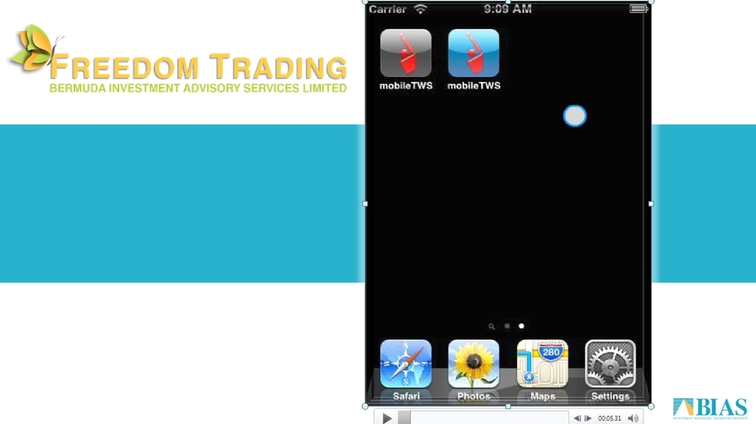 Freedom Trading Iphone Demo